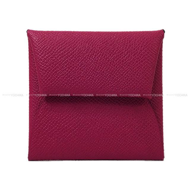 0812f2077 HERMES Hermes coin case Bastia Rose purple Epson silver metal fittings new  article