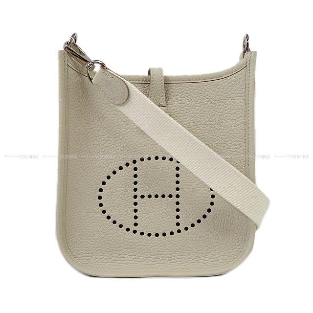 HERMES Hermes shoulder bag mini-Ebb phosphorus Evelyn 16 TPM Amazon  concrete X white avian Yong silver metal fittings new article 139e78d96