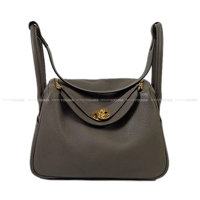 3903a480ab HERMES Hermes shoulder bag Lindy 26 grease ethane avian Yong gold metal  fittings new article mint condition