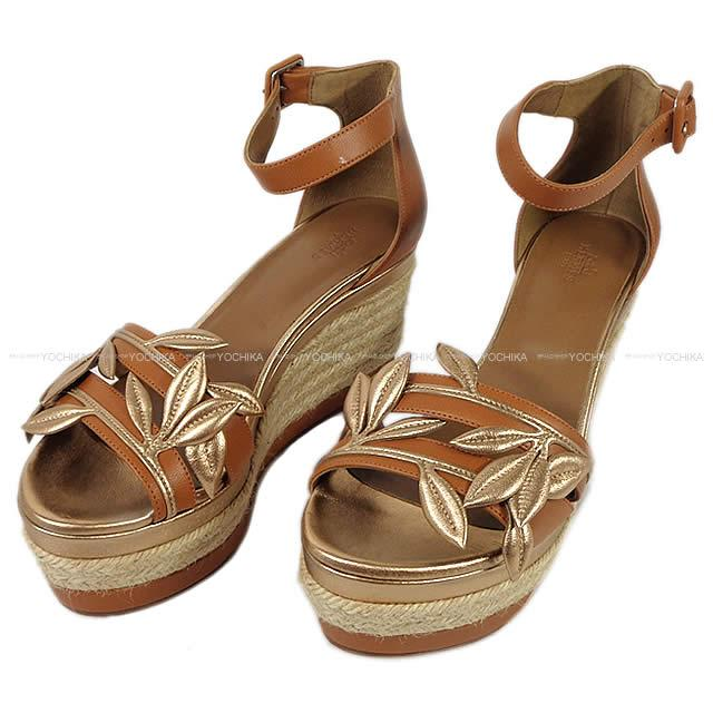 547c68d640 Attributive HERMES Hermes Lady's leaf wedge sandals