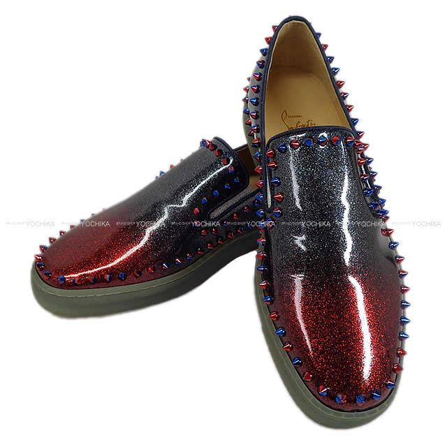 timeless design 584ae d833f Christian Louboutin Christian ルブタンメンズスタッズスニーカースリッポン red X blue new  article-free (Christian Louboutin Mens Studs Sneakers Pik Boat Flat  Red/Blue)# よちか