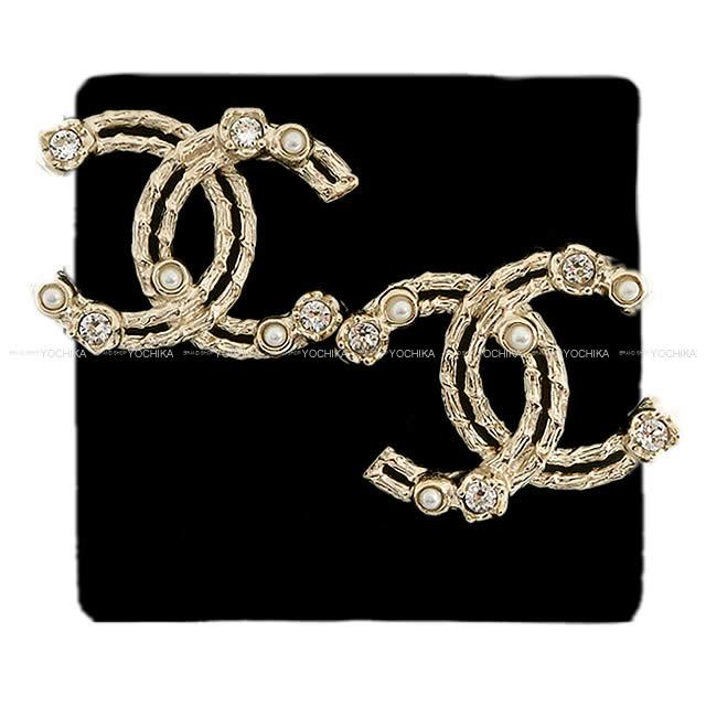 e5aa552d97 Cruise CHANEL Chanel pearl & rhinestone big here mark pierced earrings  AB0131 is new for 2,019 years