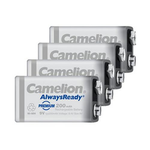 送料無料 ニッケル水素充電池 6P形 Camelion 9V角形 NH-9V200ARBP1(4本セット)