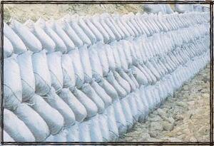 コンクリート養生材 ワンタッチ一人充填土のう