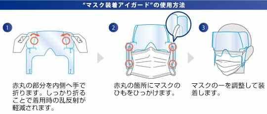 アイガード 飛沫防止 ウイルスから目を守るマスク装着