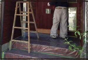 ロールマスカー マスキング 粗い壁にも 屋外に向いている マスキングフィルム テープ幅25mm
