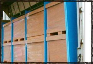 ミナスペーサー 運搬緩衝材 トラック荷台 ブルーボード 隙間緩衝材