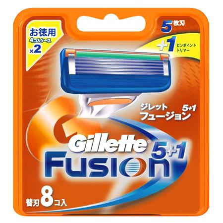 Gillette Fusion 5+1  替刃8コ入