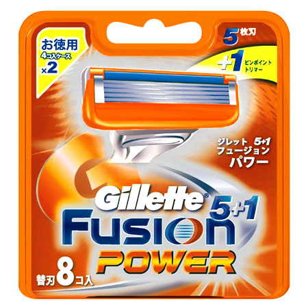 Gillette Fusion5+1 power spare blade 8 co-入