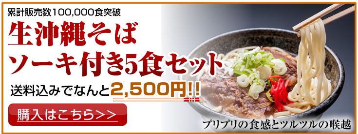 お試しの沖縄そばセット!