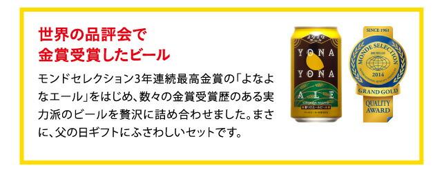 モンドセレクション3年連続最高金賞・よなよなエール