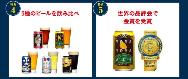 金賞ビール5種飲み比べ