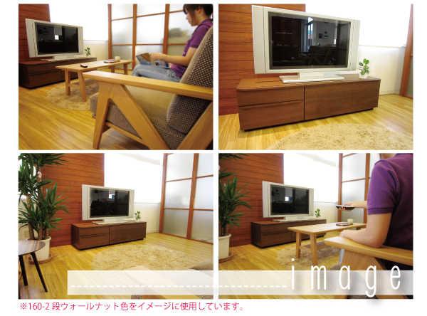テレビボード MV 使用シーンイメージ。中身を見せずに使えるので、テレビ周りがスッキリします