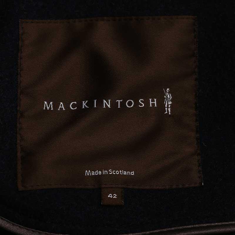 MACKINTOSH マッキントッシュ ステンカラーコート ウール ダークグレー チェック柄 【中古】