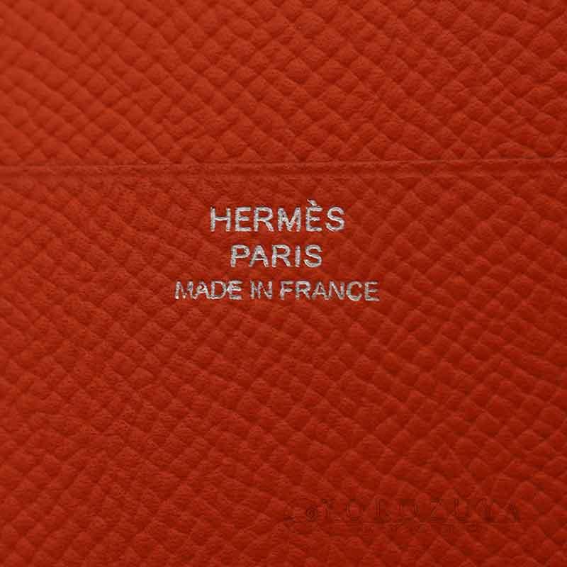 HERMES エルメス アジェンダ ジップ 手帳カバー ヴォーエプソン オレンジ ラウンドファスナー 【中古】