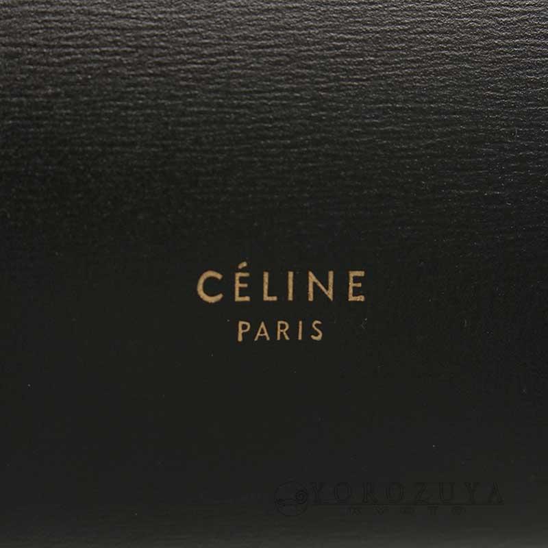 CELINE セリーヌ ベルトバッグ ミニ 176103AD1 2WAYバッグ カーフ ブラック ショルダーバッグ ハンドバッグ ホワイトステッチ 【中古】