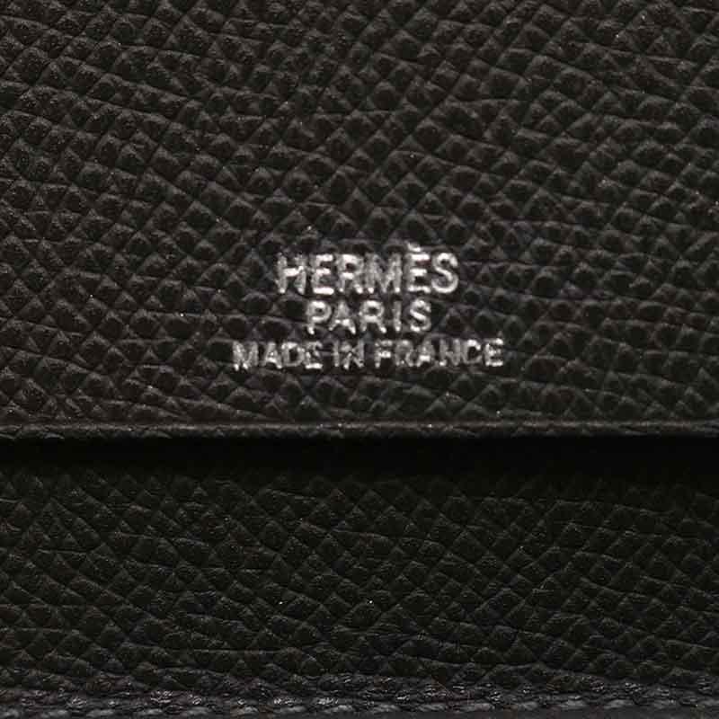 HERMES エルメス ヴィジョン 手帳カバー 038540CA-88 ヴォーエプソン グラファイト ダークグレー 【中古】