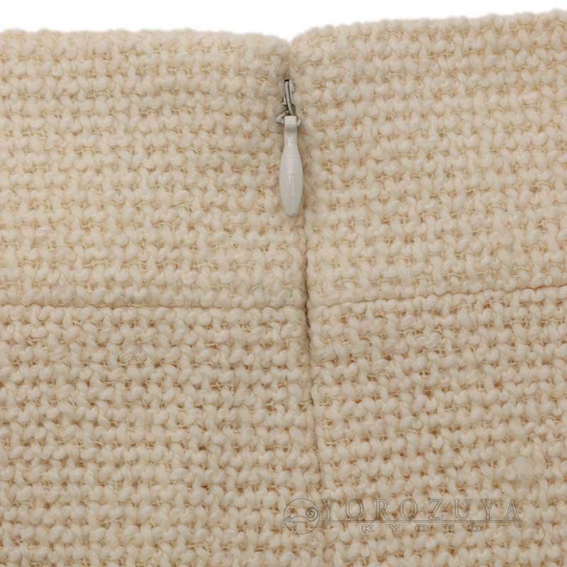 aa92a22ab377 ... CHANEL シャネル スカート P22291 V13105 ウール シルク アイボリー 【中古】 ...