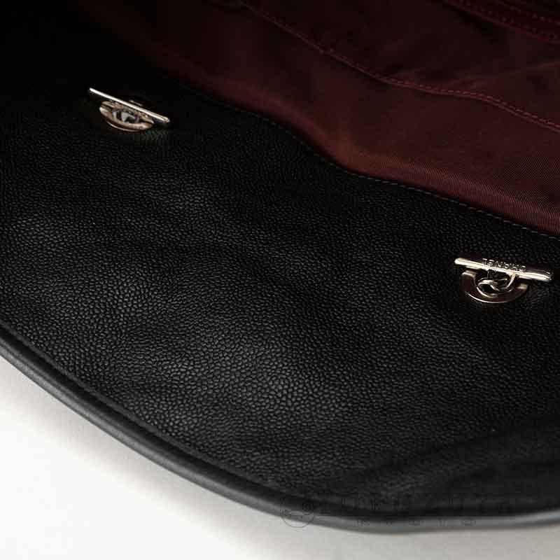 CHANEL シャネル マトラッセ 2WAYバッグ ソフトキャビアスキン ブラック SV金具 トートバッグ ショルダートート ショルダーバッグ チェーン 【中古】