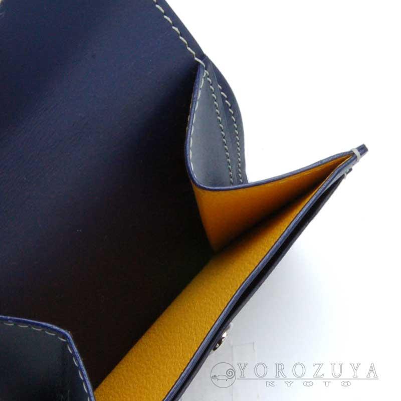 GOYARD ゴヤール コンパクトウォレット コインケース 小銭入れ PVC レザー ネイビー 箱付き 【新品】