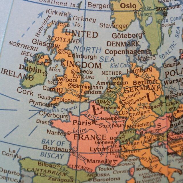 リプルーグル地球儀 フィンレイ型 ブルーオーシャン地図 英語版