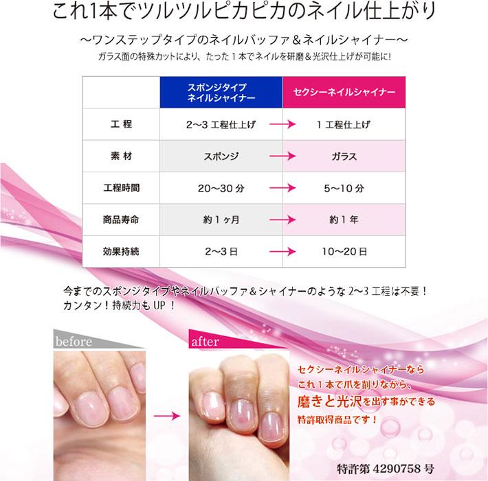 【メール便送料無料】ネイルシャイナーマジックネイル爪磨き爪みがき爪やすり