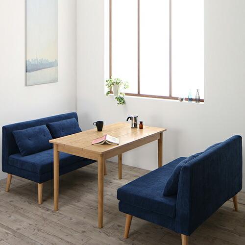シンプルテイスト 北欧デザインソファ リビングダイニング 3点テーブルセット