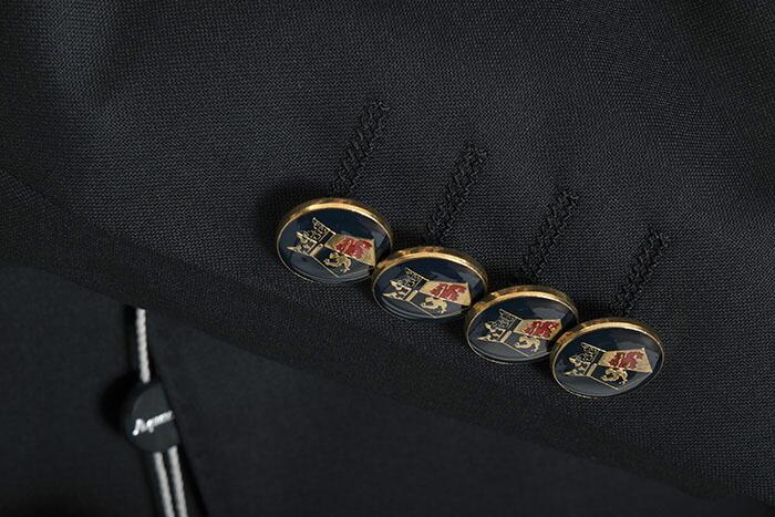 展示品 アクアスキュータム ジャケット BB5(Mサイズ相当) ダブルジャケット Aquascutum 紺(ネイビー) メンズ 紳士