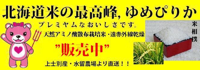 北海道の米ゆめぴりか