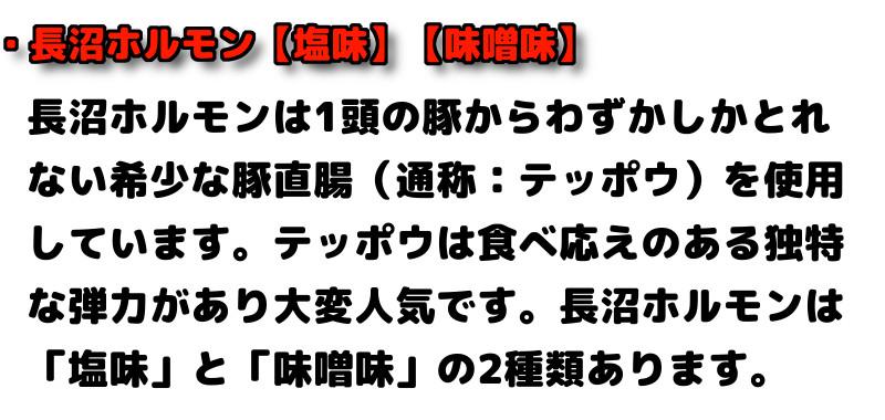 ・長沼ホルモン【塩味】【味噌味】