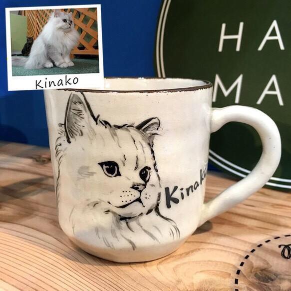 猫似顔絵マグ