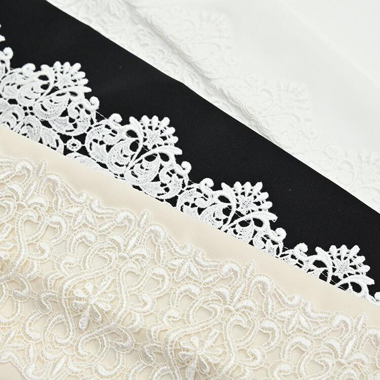 ケミカルレースかんたん半衿の黒と白が並んだ画像