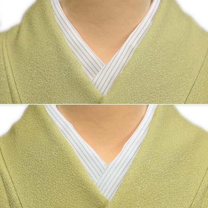 絹交刺繍入りかんたん半衿のアップ画像