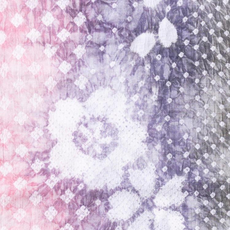 絞り浴衣桜