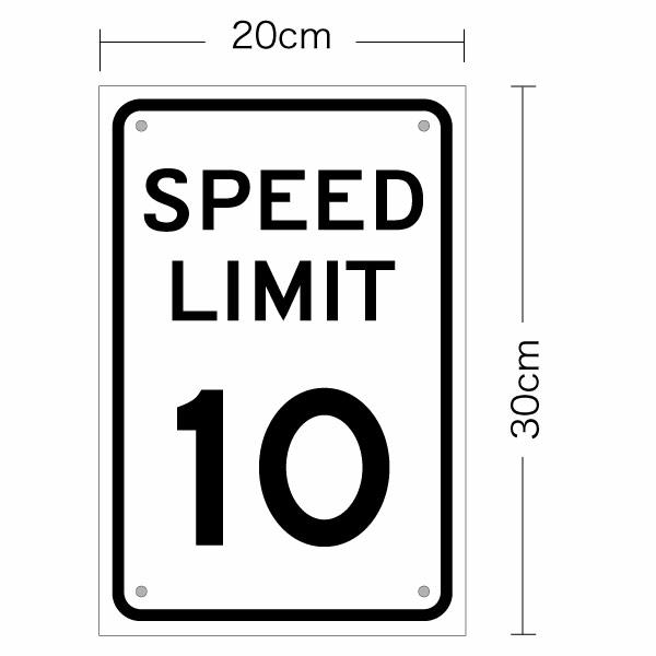 楽天市場 アメリカの道路標識 speed limit スピードリミット 片面