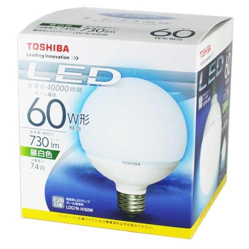 通常ボール電球 60W相当 外形95mm  昼光色