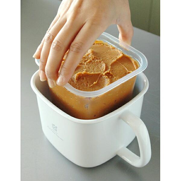 市販の味噌をそのまま保存できる、こだわり派のための味噌ポットを教えてください。