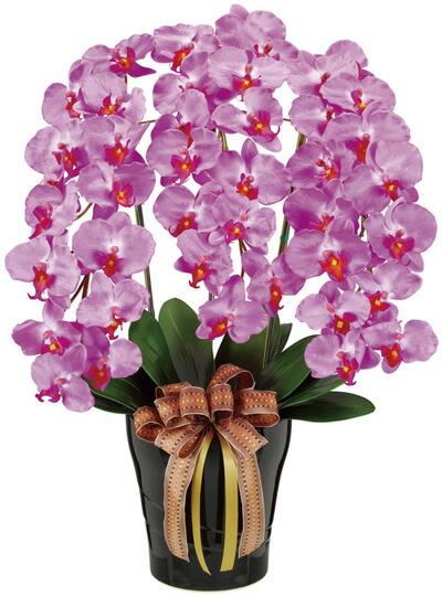 ピンク大輪胡蝶蘭造花