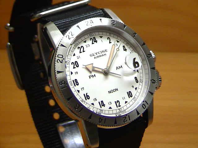 7b13c4c124 グライシン 腕時計 GLYCINE 【世界限定 600本】 エアマン 1953 ...