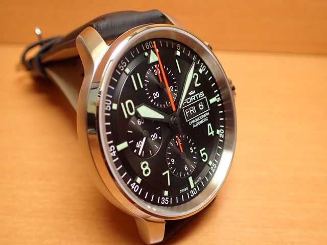 4ae4e266a2 フォルティス 腕時計 FORTIS Flieger Pro Chronographフリーガープロ クロノグラフ 43mm Ref.705.21.11 【 正規品取扱店舗】