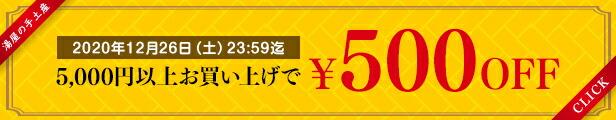 5,000円以上ご購入のお客様にご利用頂ける楽天の500円クーポンプレゼント