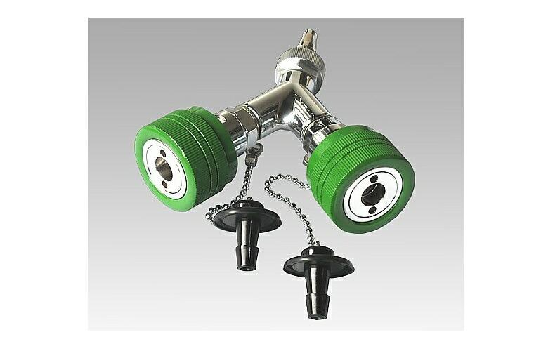 商品説明画像:二又タイプアウトレット 酸素 シュレーダー式 アムコ型