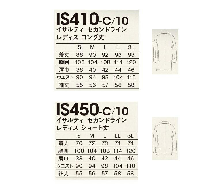 商品説明画像:サイズ表