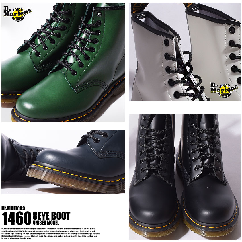 Vereinigte Staaten 60% Rabatt schönen Glanz Doctor Martin 8 hall boots Lady's men DR. MARTENS 8HOLE BOOT 1460 shoes  brand nature leather leather genuine leather leather casual stylish lock ...