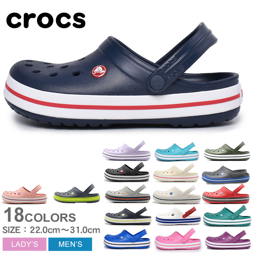 Z-Craft Clocks Crocs Clock Band Crocband Sandals Men Gap Dis Black Black White White -7862