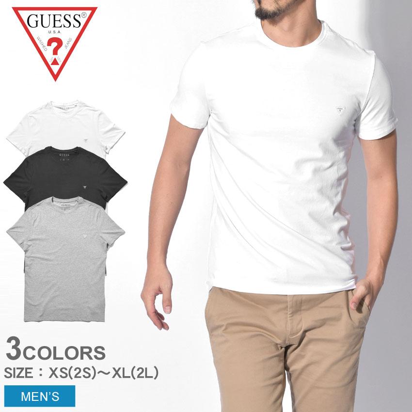 a283362b48 GUESS ゲス short sleeves T-shirt men CN SS CORE TEE M91I32-J1300 TWHT JBLK  SHGY street brand casual tops summer clothesware sports jogging training ...