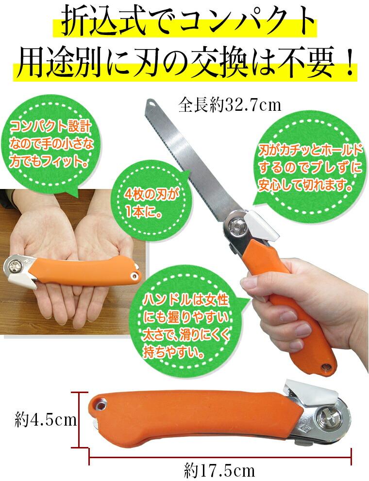 nococo(ノココ)は折込式でコンパクト!用途別に刃の交換は不要!