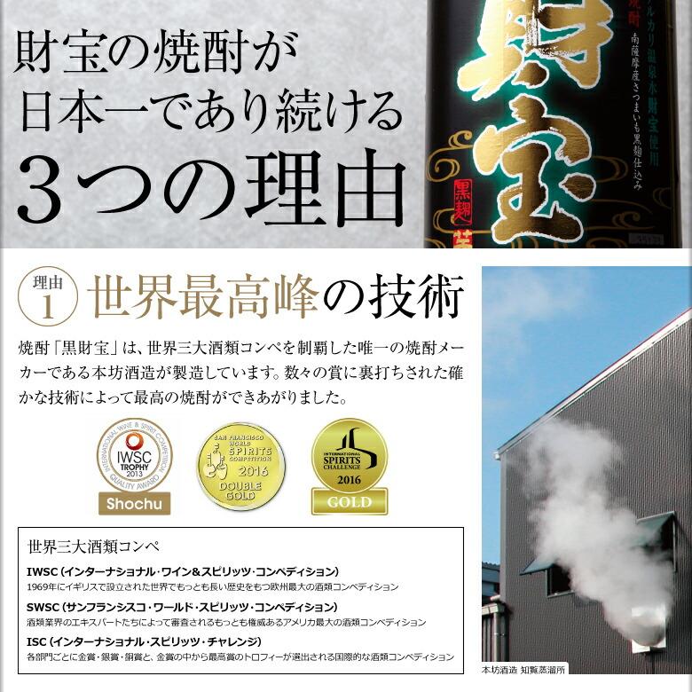 財宝の焼酎が日本一であり続ける3つの理由 [理由1]世界最高峰の技術