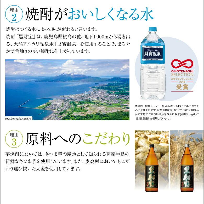 [理由2]焼酎がおいしくなる水 [理由3]原料へのこだわり
