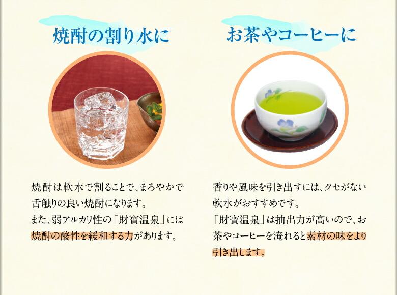 焼酎の割水やお茶やお料理に